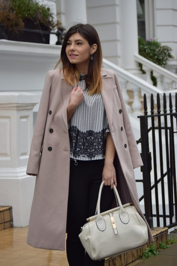 Pink Blush Coat Lace Shirt