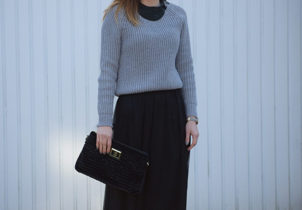 Tulle Skirt Oversized Knit