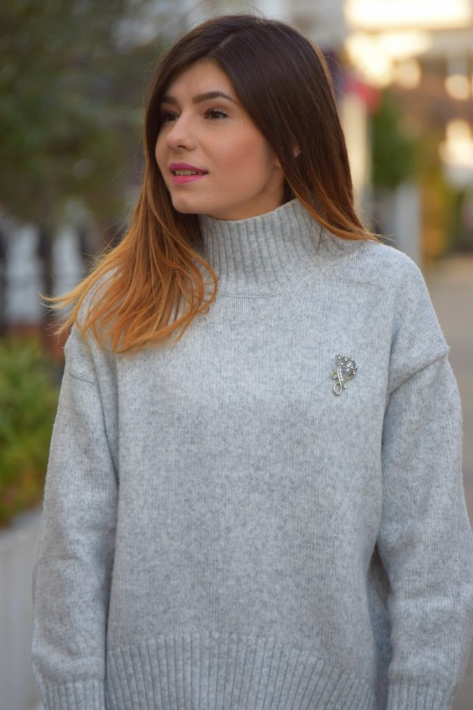 Polo Neck Jumper Outfit