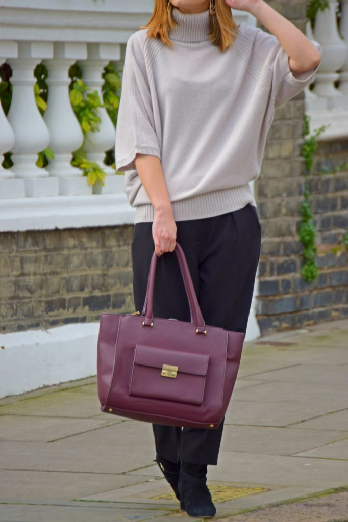 Batwing Jumper and Tailored Trousers