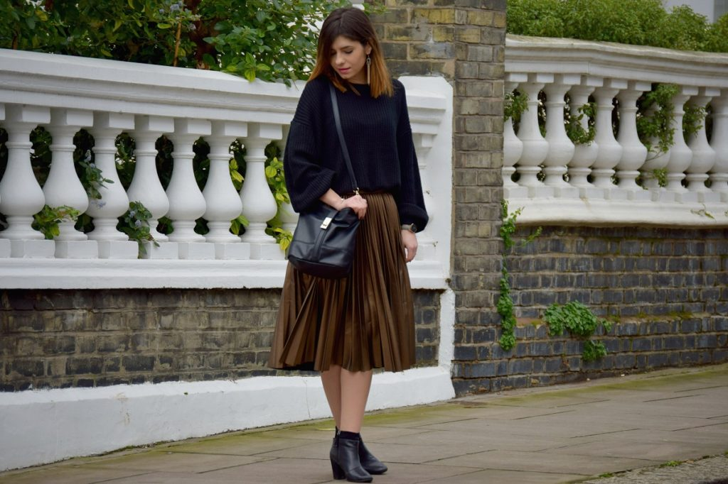 Metallic Skirt London