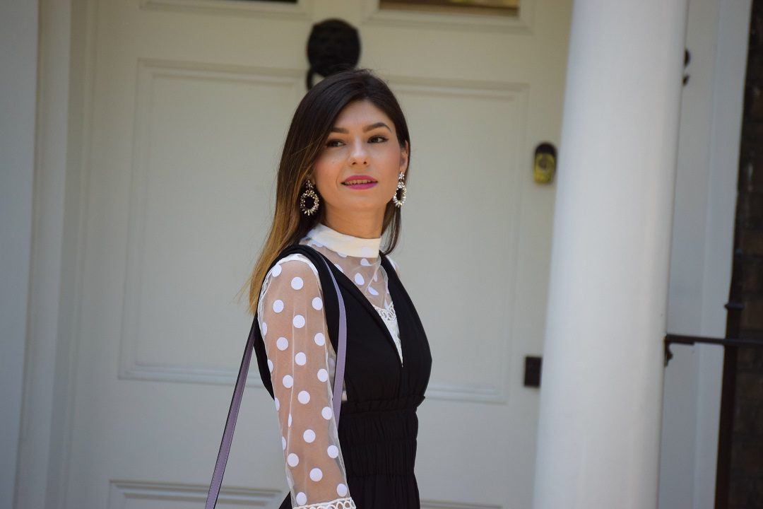 Polka Dot Evening Look
